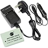 DSTE® NB-5L Replacement Li-ion Battery + Charger DC22U for Canon PowerShot S100, S110, SD700 IS, SD790 IS, SD800 IS, SD850 IS, SD870 IS, SD880 IS, SD890 IS, SD900 IS, SD950 IS, SD970 IS, SD990 IS, SX200 IS, SX210 IS, SX220 IS, SX230 HS Digital Cameras
