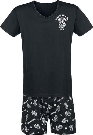 Sons of Anarchy Stars & Stripes Pijama Negro, , Corte Normal Suelto