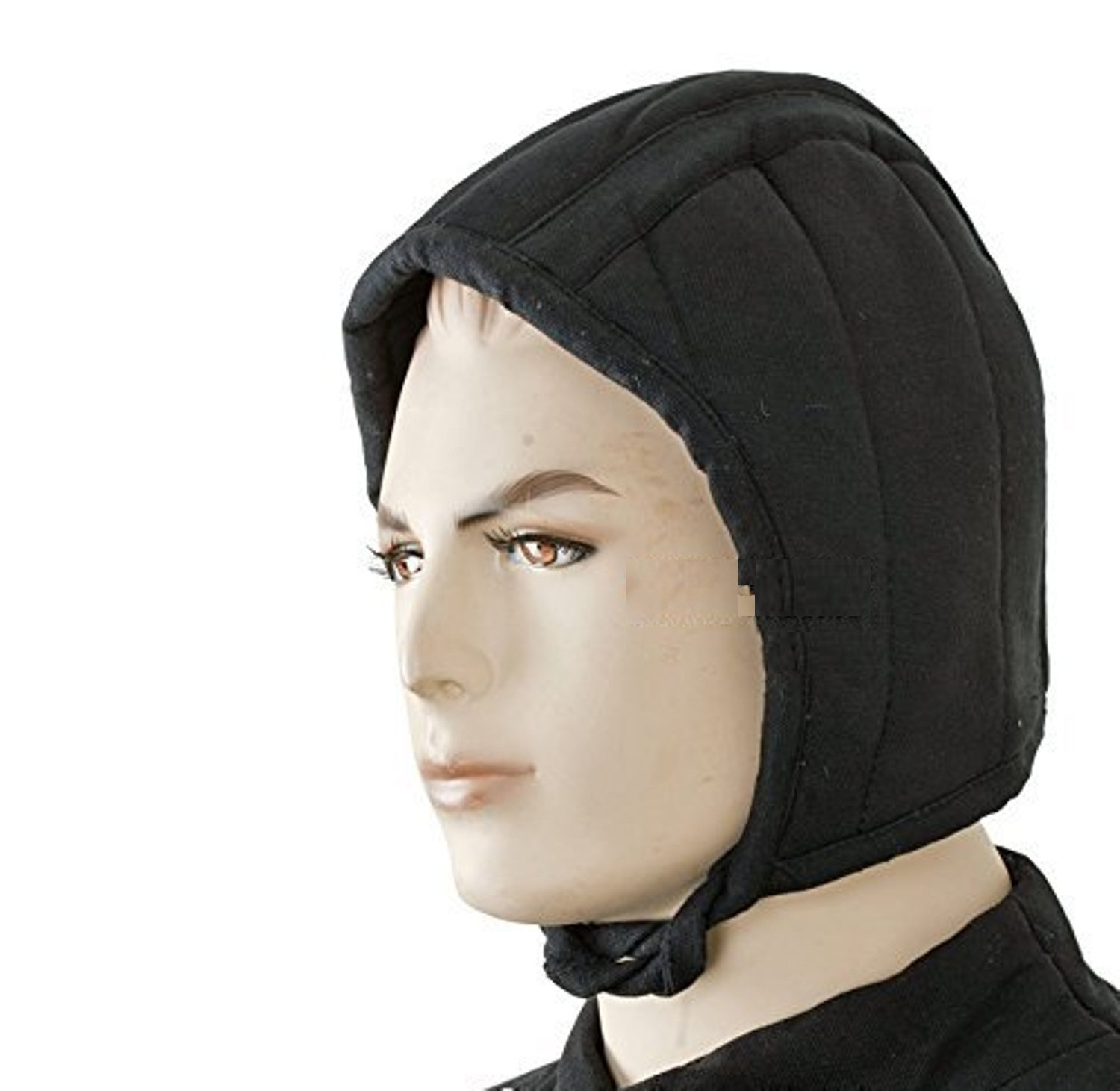 THORINSTRUMENTS (with device) Medieval Gears Brand Black Medieval Renaissance Cotton Padded Arming Cap