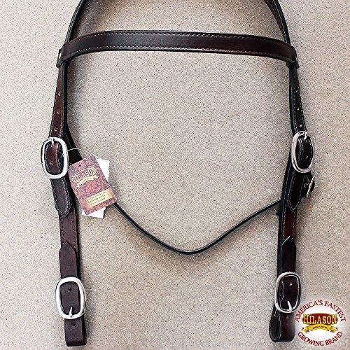 - HILASON Western Leather Draft Horse Bridle Headstall Oversize Dark Brown