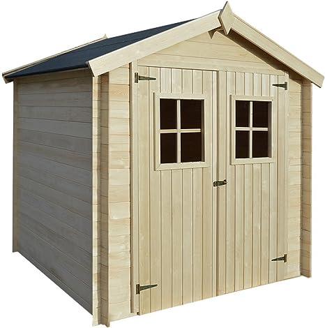 Caseta de jardín - Medidas 213 x 203 cm - Construida en madera - Ideal para guardar las herramientas del jardín