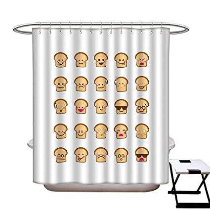 Super Amazon Com Emoji Mildew Resistant Shower Curtain Liner Gmtry Best Dining Table And Chair Ideas Images Gmtryco