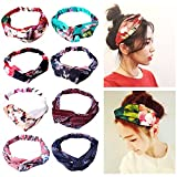 Amandir 8 Pack Headbands for Women Boho Cute Twist Headband Criss Cross Headband