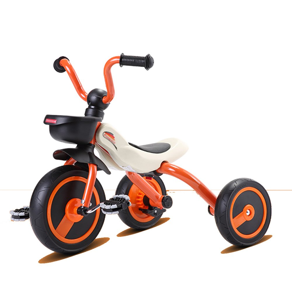 HAIZHEN 限定タイムセール マウンテンバイク 子供の三輪車折りたたみ可能な青 ピンク オレンジの赤ちゃんバイク美しく Edition ランキングTOP5 B07CG22D1Hオレンジ ファッショナブル 新生児 Upgraded