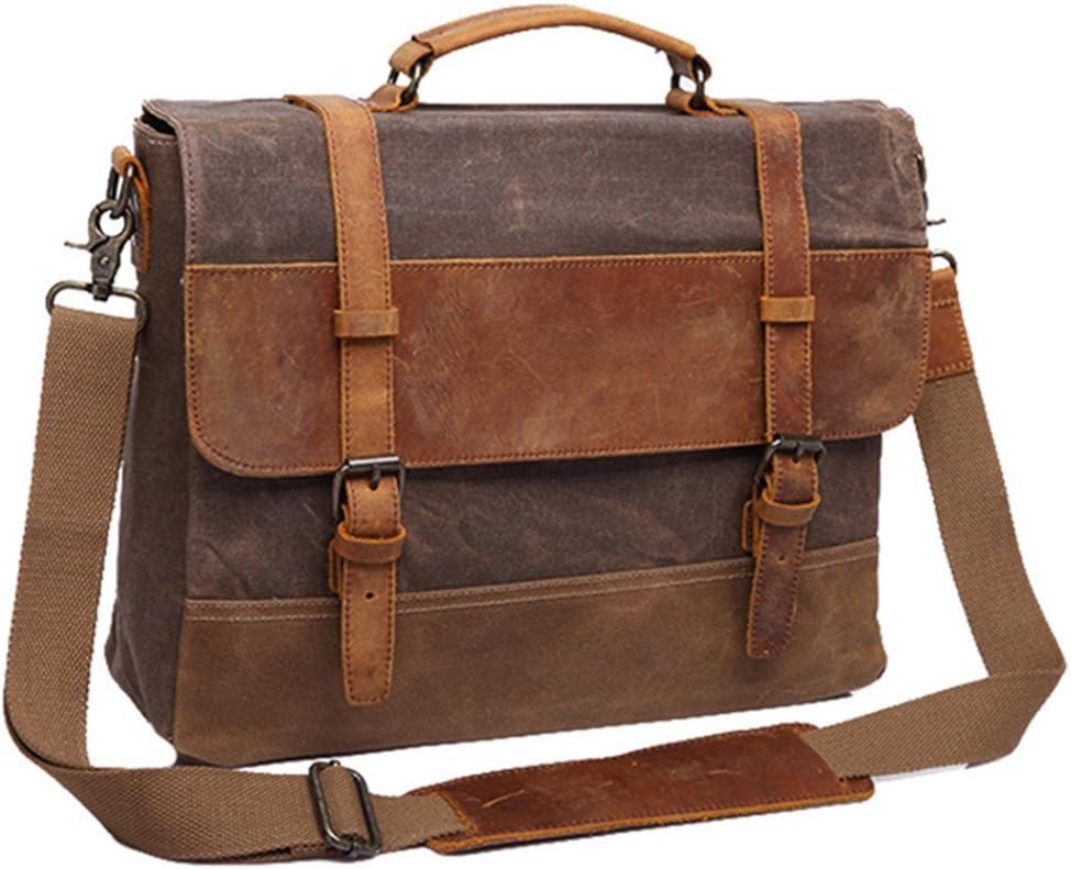WUSHIYU Mens Messenger Bag Mens Briefcase Leather Mens Bags Business Bags Bags Vintage Shoulder Messenger Bags Suitable for Business Casual Satchel Shoulder Bag