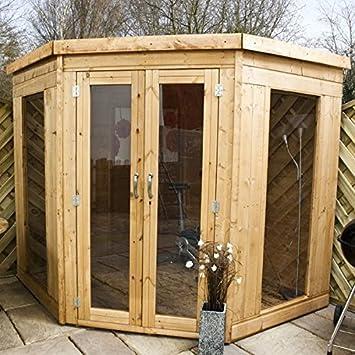 7 pies x 7 ft Premier de madera esquina jardín lugar de descanso (10 mm