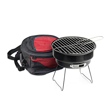 Portable Charcoal Barbeque Mini Grill With Cooler And Carrybag Perfect For  Camping And Tailgating By Moskus