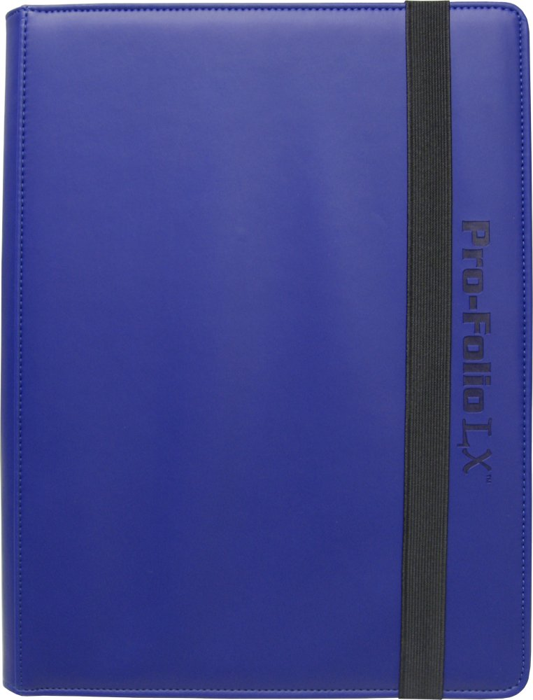 (6) Blue Trading Card Binders - BCW Brand - 9-Pocket Pro-Folio - LX - #BCW-PF9LX-BLU by Square Deal Recordings & Supplies