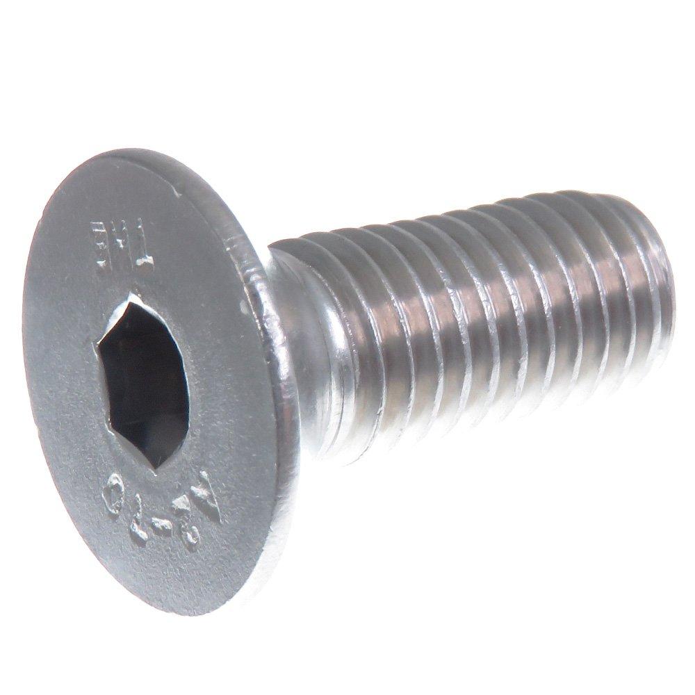 DIN 912//ISO 4762 acciaio inox VA A2 V2 A Viti a testa cilindrica inossidabile Viti a testa cilindrica M6 x 100 mm AGBERG 10 pezzi con esagono incassato