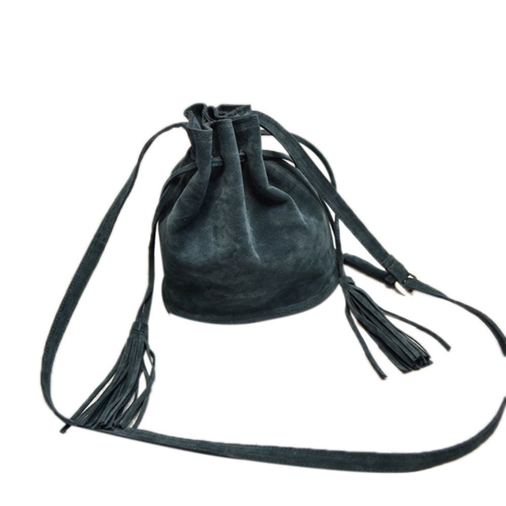 Gr/ün, M REALIKE Damen Beuteltasche Crossbody Umh/ängetasche Handbags Mit Quasten Crossbody Ngetasche Mode Einkaufstasche Abnehmbarem Schulterriemen Schultertasche Messenger Tasche
