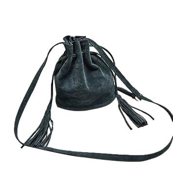 REALIKE Damen Beuteltasche Crossbody Umh/ängetasche Handbags Mit Quasten Crossbody Ngetasche Mode Einkaufstasche Abnehmbarem Schulterriemen Schultertasche Messenger Tasche Gr/ün, M