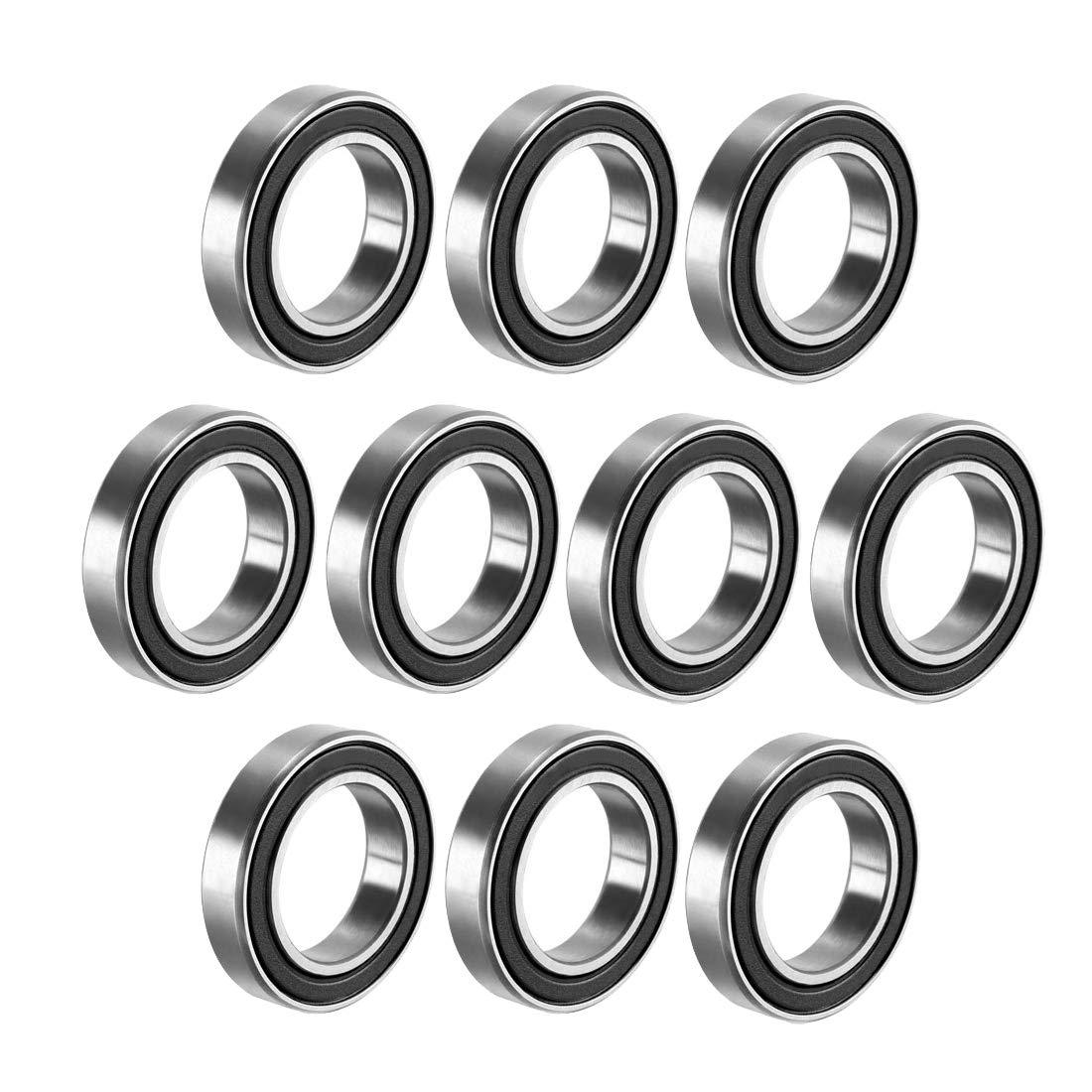 10 Pcs Premium 6802 2RS ABEC3 Rubber Sealed Deep Groove Ball Bearing 15x24x5mm