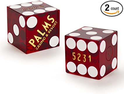 CASINO DICE Ambassador Plaza Casino Pair of Used Dice San Juan Puerto Rico