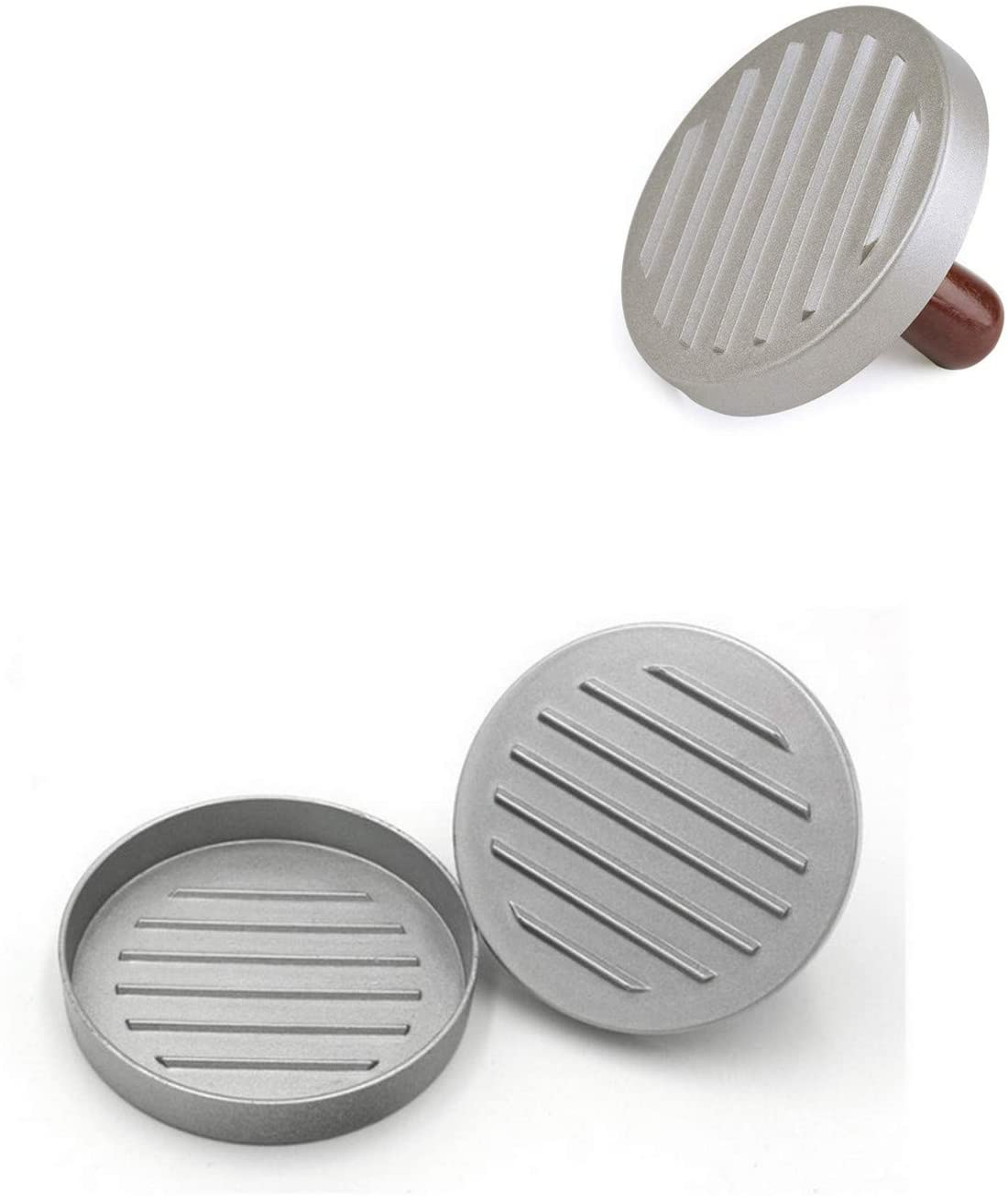 Non Stick Patty Mould Jsdoin Burger Press Aluminum Hamburger Patty Maker Ideal for BBQ