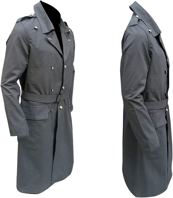 LFBUK Manteau Long en Coton pour Homme Doctor Who Capitaine
