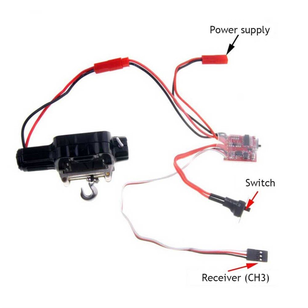 Homyl Automatic Crawler Winch Control System for 1:10 Car Truck Off-road SUV Parts by Homyl (Image #3)