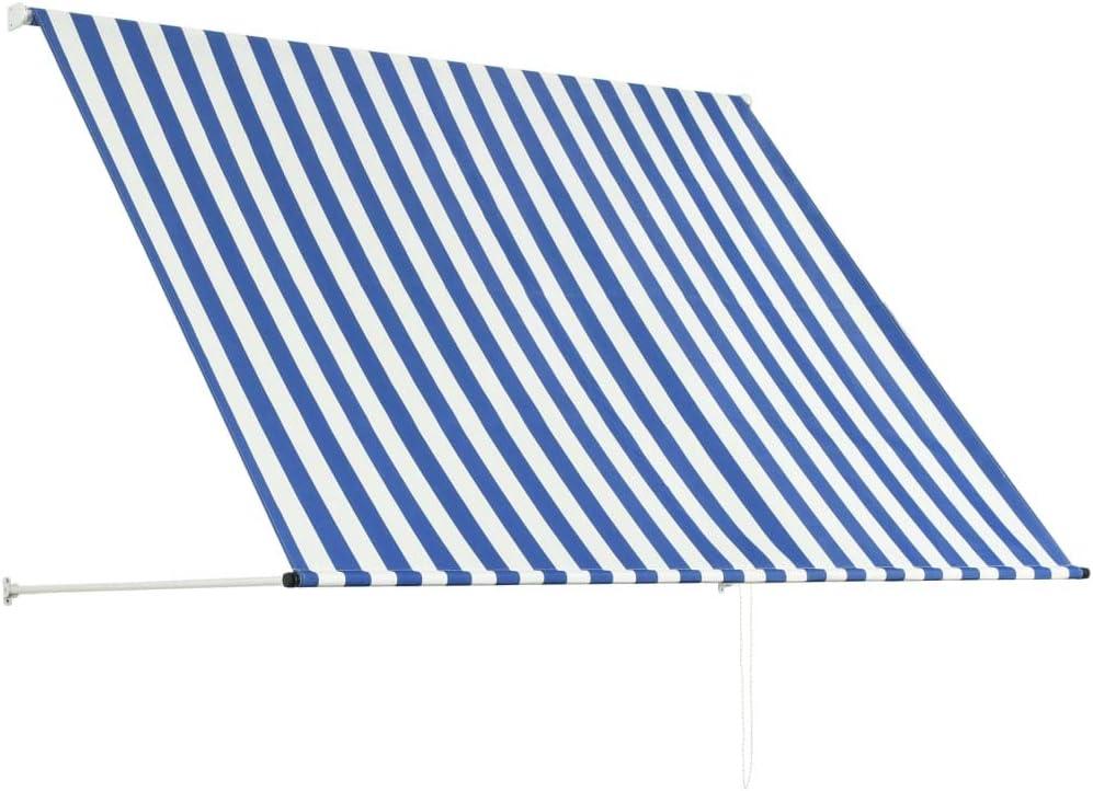 Auvent r/étractable 150x150 cm Jaune et Blanc Banne Store Festnight Exterieur Store banne Manuel