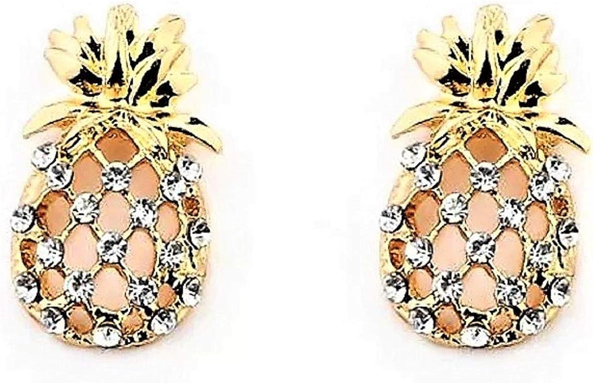 RoseJeopal Pineapple Dangle Earring Hawaiian Hypoallergenic Earring Jewelry for Women Girl
