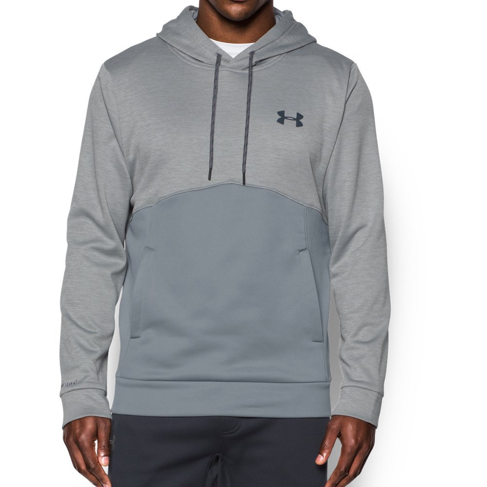 Under Armour Men's Storm Armour Fleece Twist Hoodie, Steel/Steel, Small by Under Armour (Image #1)