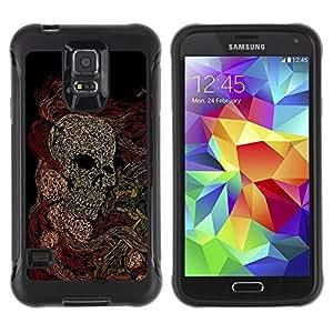 Paccase / Suave TPU GEL Caso Carcasa de Protección Funda para - Skull Skeleton Art Painting Drawing - Samsung Galaxy S5 SM-G900
