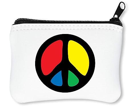 Hippie Peace Sign Billetera con Cremallera Monedero Caratera ...