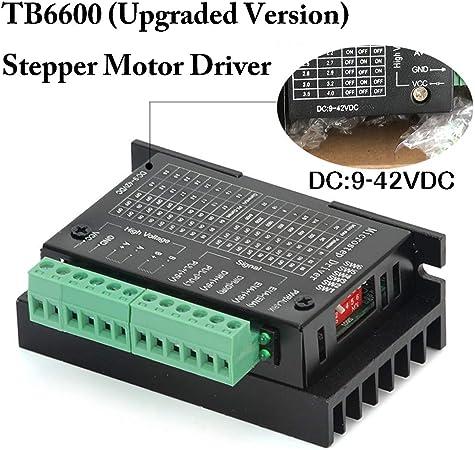 TopDirect TB6600 Controlador de Motor Paso a Paso 4A 9-42V 2/4 fase Hybrid Stepper Motor Driver para Impresora 3D/CNC: Amazon.es: Industria, empresas y ciencia