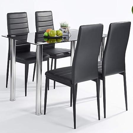 Table De Salle A Manger Avec 4 Chaises Plaque De Table Robuste En