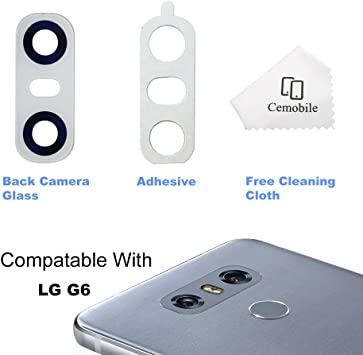 Cemobile - Tapa Trasera de Cristal para cámara de Fotos LG G6 H870 H871 H872 LS993 VS998: Amazon.es: Electrónica