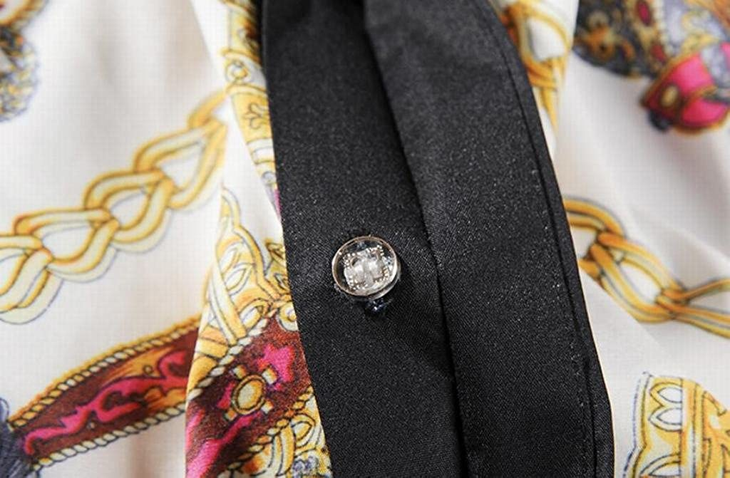Oberora Mens Luxury Slim Fit Short Sleeve Button Down Shirts