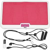 Profi Vibrationsplatte Fitness , Rutschsicherer Trainingsfläche + LCD Display + Fernbedienung + 9 Verschiedene Modi + Trainingsbänder
