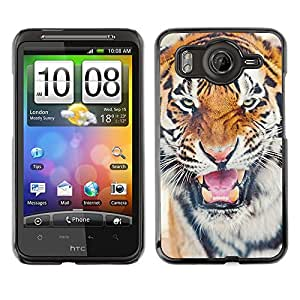 A-type Arte & diseño plástico duro Fundas Cover Cubre Hard Case Cover para HTC G10 (Tiger Roar Angry Cat Big Animal Africa)