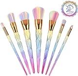 Unicorn Makeup Brushes, Inofia Unicorn Brushes Makeup Unicorn Pinky Brushes for foundation brush Blush Eye Face Powder Brush Cosmetics 7pcs