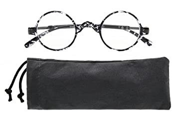 342140601f6 Eyekepper Round Reading Glasses a Little Large Than Vintage Professor Oval  Readers (Black-White