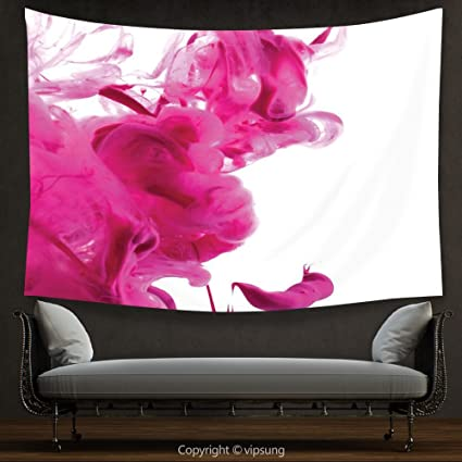 Amazon.com: House Decor Tapestry Magenta Decor Color Splash Pastel ...