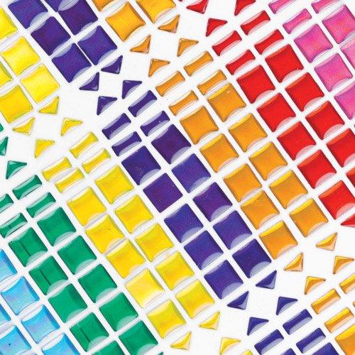 Baker Ross Piedrecitas adhesivas - pegatinas 3D que los niños pueden usar en mosaicos para decorar manualidades y tarjetas (pack de 375).