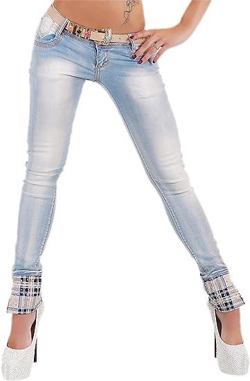 100% Spitzenqualität gute Qualität Bestbewertete Mode Mozzaar Sexy Women's Skinny Jeans Ladies Checkered Trousers ...