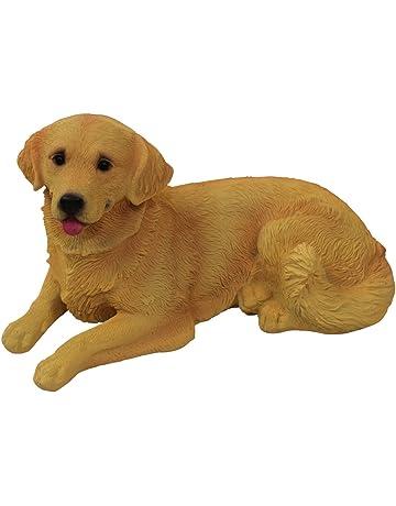 1Plus poliresina figuras Jardín Figura perro Golden Retriever, pintado a mano, Jardín Decoración Animales