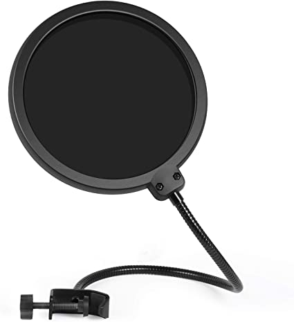 InnoGear Updated Microphone Pop Filter Dual Layer Mic Pop Shield with Clip St...