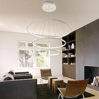 LED Pendelleuchte Dimmbar Modern 3 Ringe Entwurf Runden Hängelampe  Kronleuchter Zum Wohnzimmer Esszimmer Schlafzimmer Studierzimmer Decke