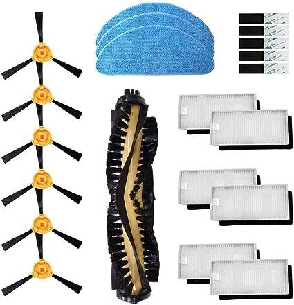 spazzola laterale Accessori Ricambio per Ecovacs Deebot N79 N79S Kit di accessori per aspirapolvere robot Confezione di filtro Hepa