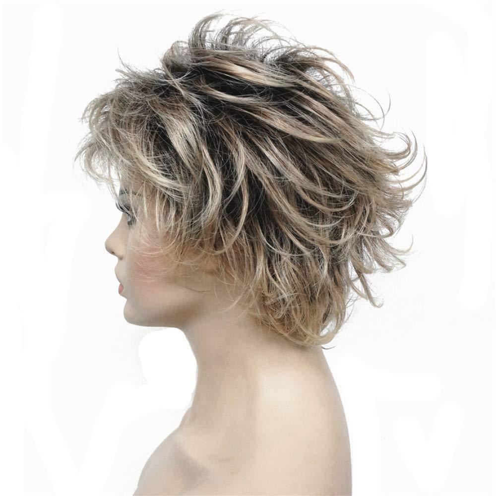 AZHENGGQIAN Ms. Synthetic Wig Layered Short Straight