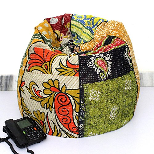 Handmade Quilted Cotton Floral Vintage Kantha Bohemian