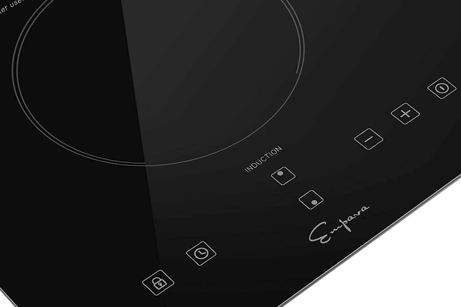 Empava IDCX12 12 Inch Electric Induction Cooktop Smooth Surface with 2 Burners 120V Black