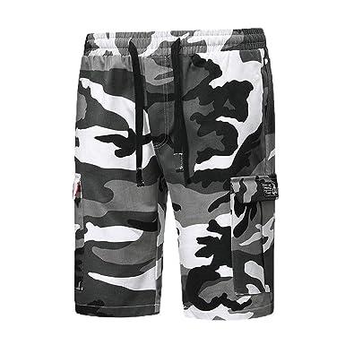 Pantalones para Hombre, Chándal de Hombres Camuflaje Impresión ...