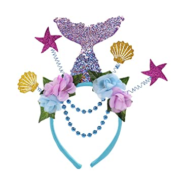 Amosfun Mermaid Hair Hoop Shell Spring Hairband Fiesta de ...