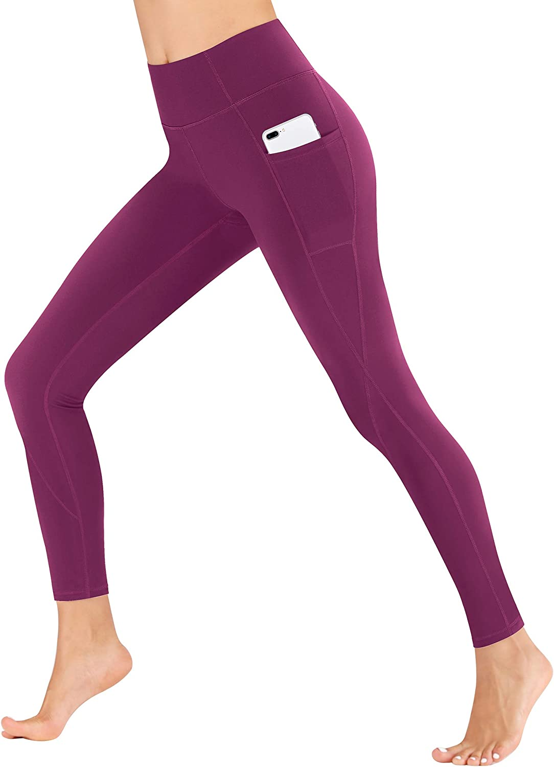Heathyoga Yoga Pants with Pockets for Women Leggings with Pockets for Women No See-Through High Waisted Workout Leggings