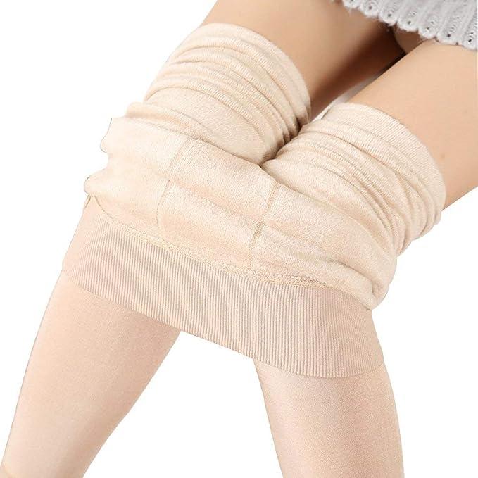ec14a6de0ae4 VOGRACE Women s Winter Warm Velvet Fleece Lining Stretch Leggings ...