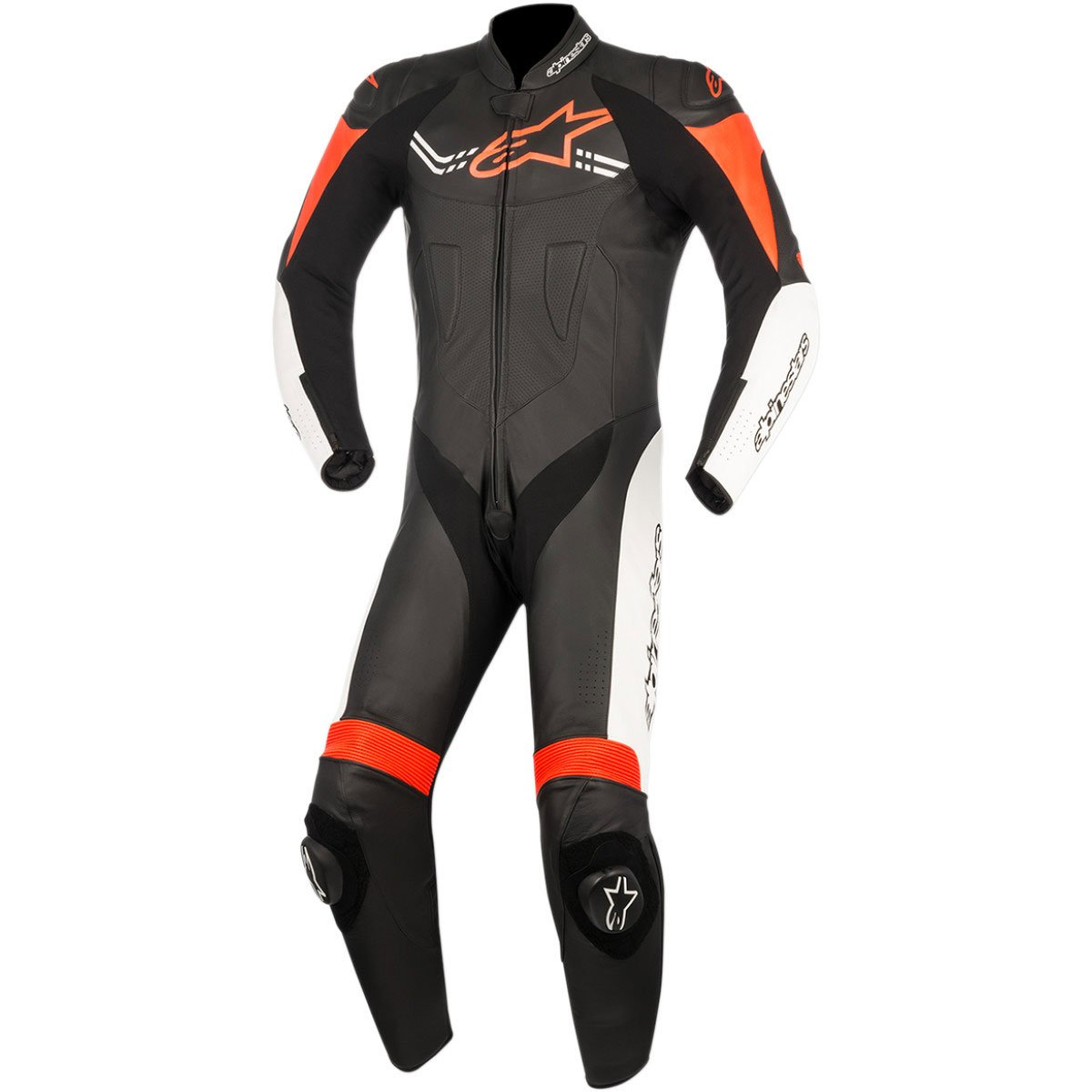 Alpinestars Challenger Men's 1-Piece Street Race Suits - Black/White/Red / 56