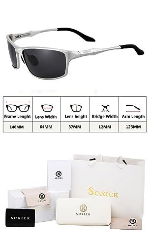 Amazon.com: anteojos de sol Para Hombre Polarizadas Negro ...