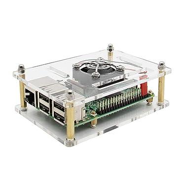Caso Cluster con ventilador Kit 1-4 capas multi capa acrílica Pila ...